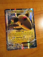 NM Pokemon AMPHAROS EX Card ANCIENT ORIGINS Set 27/98 XY X and Y Ultra Rare TCG