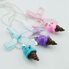 USA 3pcs Best Friends Forever BFF Ice Cream Cone Necklace Set Pair Friendship
