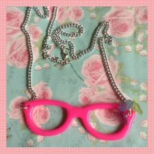 Pink Spectacles/Glasses Necklace