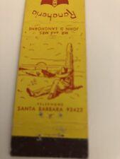 Vintage Matchbook Cover Rancheria Motor Hotel Montecito California (Midget Size)