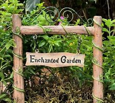 Miniature Dollhouse FAIRY GARDEN ~ Fairytale ENCHANTED Garden  Pick Sign ~ NEW