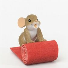 Rolling Out The Red Carpet For You Charming Tails Mouse Figurine #4035612