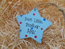 Personalised New Litle Brother Big Brother Hanging Wooden Plaque Gift Keepsake
