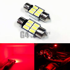 2x DE3175 31mm Festoon LED Blubs 5730 SMD Error Free Canbus Dome Map Light, Red