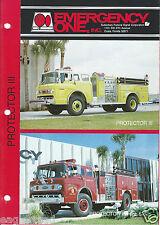 Fire Equipment Brochure - E-One - Protector III - Indianapolis FD et al (DB222)