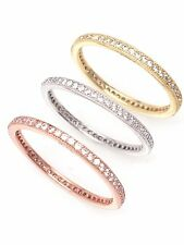 Sterling Silver 925 Thin Cz Eternity Band Ring 1.5mm Size 5 - 9 Womens
