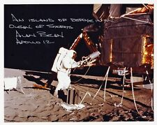New ListingAlan Bean Apollo 12 Moon Walker - Lunar Eva - Hand Signed 8x10 Photo Nasa W-Loa