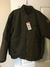 Snap On Tools Carhart Like Work Jacket Coat Thick Insulated Brown Khaki New