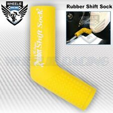 MOTORCYCLE SPORT BIKE SHIFTER SHIFT SOCK SHOES & BOOTS PROTECT SCUFF DIRT YELLOW