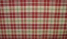 Prestigious Textiles Red / Apple / Cream Check Curtain/ Xmas Tablecloth Fabric