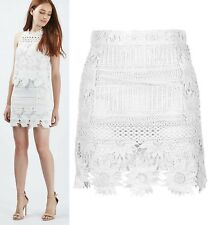 TOPSHOP Cutwork Lace Mini Skirt in White
