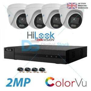 COLORVU CCTV SYSTEM HIKVISION HILOOK KIT 2MP 1080P HD OUTDOOR REMOTE VIEW APP-UK
