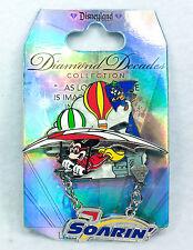Disney Pin Disneyland 60th DIAMOND DECADES SOARIN Mickey & Goofy Limited Edition