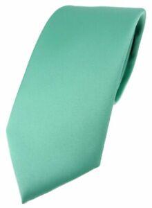 TigerTie Designer Krawatte in grün mint einfarbig Uni - Tie Schlips