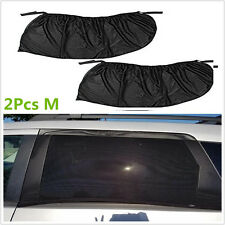 2Pcs Car Side Rear Window Visor Shade Mesh Cover Shield Sun Shade UV Protector M