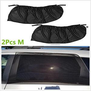 2Pcs Car Side Rear Window Visor Shade Mesh Cover Sun Shade UV Protector M
