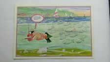 Modern Comic Postcard Sub Aqua Snorkel Scuba Diving Spear Gun Fishing Theme