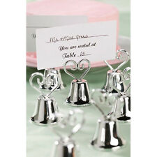 SET OF 12 HEART BELL PLACE CARD HOLDERS KISSING BELL FAVORS BY VICTORIA LYNN