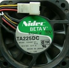 new original  Nidec Axial flow fan TA225DC  H34587-57 12V 0.17A  GOOD WORK