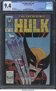 Incredible Hulk #340 1988 CGC 9.4 - McFarlane art, Hulk vs. Wolverine