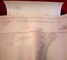3 Cartes marines Mer méditerranée Iles Baléares
