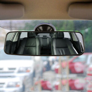 Car Auto Wide Flat Interior Rear View Mirror Suction Stick Rearview Universal