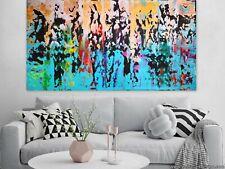 WEISE XXL Acrylbild ART Gemälde Abstrakt Modern 169 x 91 cm Leinwand 27/20 NEU