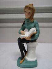 "Vintage Nasco Teen Time Betsy Reading Book Girl Figurine Japan 9.5"" Rare"