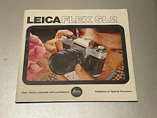Leicaflex SL 2, 8 x 8 In  40 Page Product Brochure, 1974
