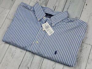 NEW! Ralph Lauren Men's 2XL XXL 18-34/35 Long Sleeve Button Down Shirt NWT
