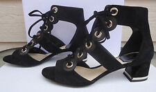 NEW $980 Christian Dior 37.5 Spice Cut-Out Black Suede Leather Lace Up Booties