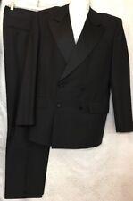 Gucci Tuxedo Black Wool Satin Collar Double Breasted Size 38 /39 Regular