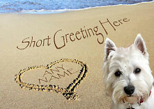 PERSONALISED WESTIE WESTHIGHLAND TERRIER DOG FATHERS DAY BIRTHDAY ETC CARD