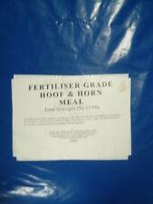 25kg HOOF AND HORN ORGANIC FERTILISER