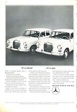 1965 Mercedes-Benz 190D Sedan Gas & Diesel PRINT AD