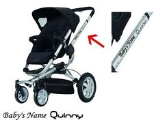 PERSONALISED NAME QUINNY LOGO BUZZ ZAPP PRAM  STICKERS DECALS CHOICE OF COLOURS