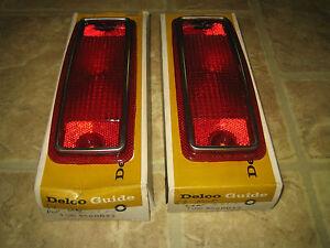 NOS GM Delco Guide 1968 Pontiac Safari Station Wagon Tail Light Lamp Lenses