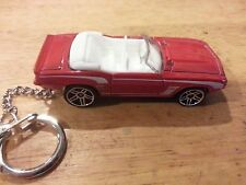 1969 RS CAMARO CONVERTIBLE ~ RED ON WHITE ~ CUSTOM KEY RING-FAN PULL~ GREAT GIFT
