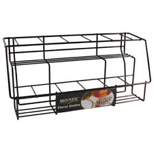Monin 11 Syrup Bottle Station Countertop Stand Black Wire Rack Only