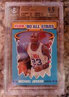 1990 MICHAEL JORDAN  FLEER ALL-STARS BULLS HOF BGS 9.5 True Gem