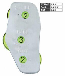 CHAMPRO SPORTS Baseball/Softball Umpire 3-Dial Steel Indicator A039P
