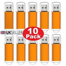 10 Paquete a granel 1/2/4/8/16/32GB USB 2.0 Memory Stick Flash Pen Drive-Naranja