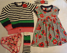Gymboree Brightest In Class Size 5 Dress 5-7 Socks S Sweater Panty Outfit NWT