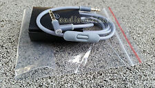 Audio Cable 3.5mm/ L Cord/ for Beats by Dr Dre Headphones Aux & Mic GRAY COLOR