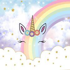 6x6ft Rainbow Stars Unicorn Eyes Party Backgrounds Studio Photography Backdrops