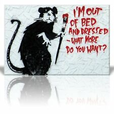 Canvas Print Wall Art - I'm Out of Bed and Dressed - Banksy Street Artwork-24x36