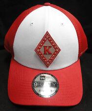 Kappa Alpha Psi Red White New Era NE204 Snap Back with Kappa Diamond Patch