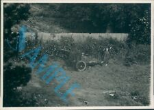 Orig WW2 Photo Operation Bodyguard D Day Deception Dummy Field Artillery Pieces
