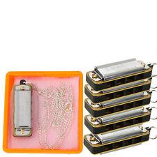 LOT5 x Cute Swan Mini Harmonica 4-Hole 8-Tone With Necklace Silver+ Box