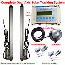 "Dual Axis Solar Tracking Tracker &18"" Linear Actuator &Electronic LCD Controller"